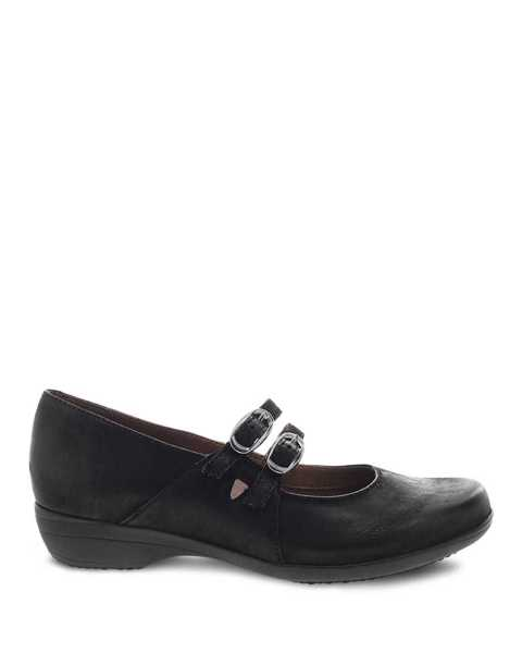 Picture of Fynn Black Burnished Nubuck