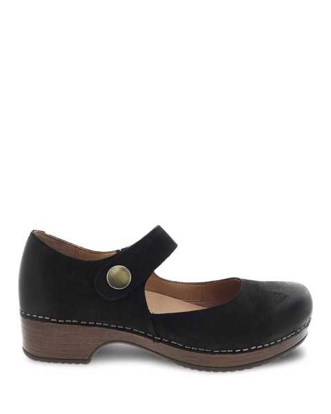 Picture of Beatrice Black Burnished Nubuck