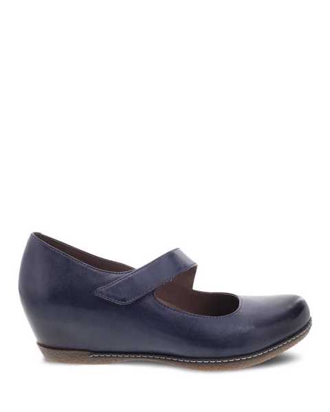 Picture of Lanie Blue Burnished Nubuck