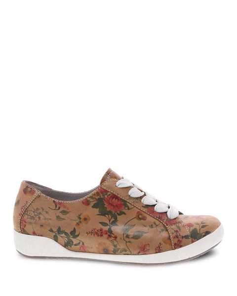 Picture of Orli Tan Floral Leather