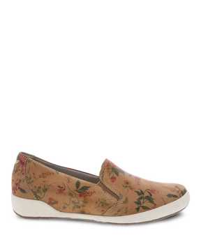 Picture of Odina Tan Floral Leather