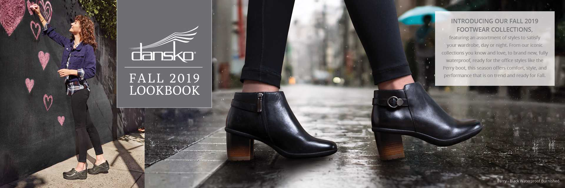 Dansko Fall 2019 Lookbook - Charcoal Distressed