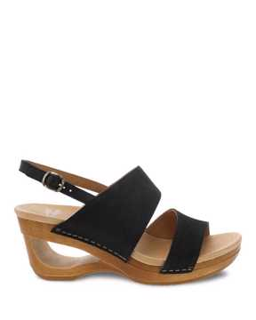 Picture of Tamia Black Textured Nubuck