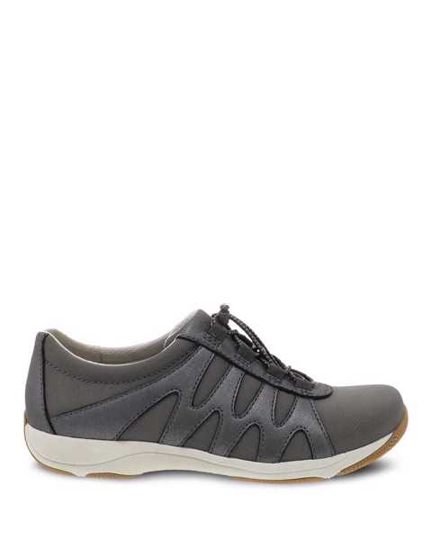 Picture of Harlie Charcoal Metallic Suede