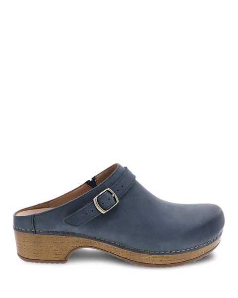 Picture of Berry Denim Burnished Nubuck
