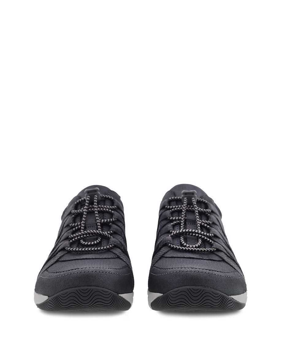 Picture of Honor Wide Charcoal/Metallic Suede