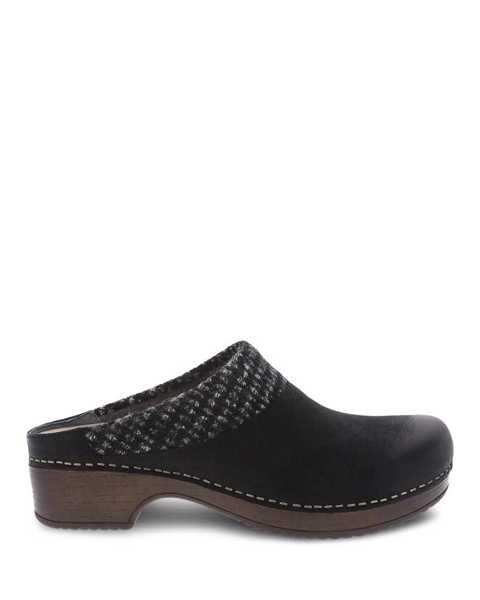 Picture of Bev Black Burnished Nubuck