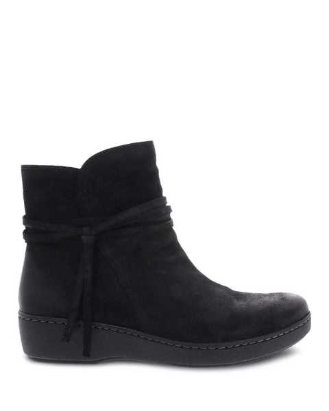 Picture of Evelyn Black Burnished Suede