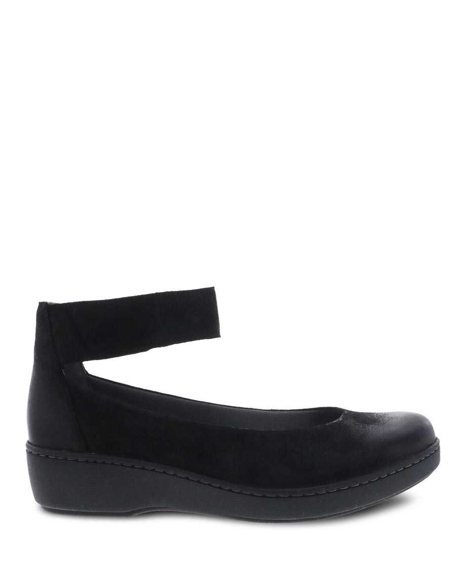 Picture of Emmie Black Burnished Suede