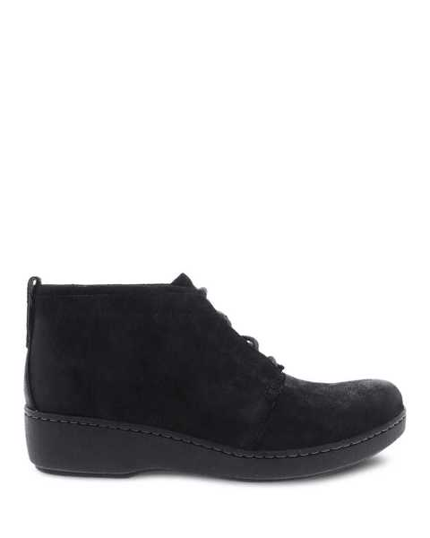Picture of Ellen Black Burnished Suede
