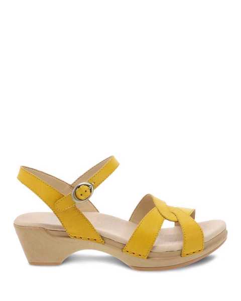 Picture of Karmen Yellow Burnished Calf
