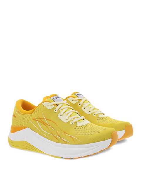 Dansko Pace walking sneaker in yellow