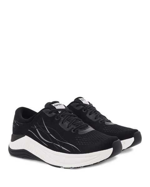 Dansko Pace walking sneaker in black