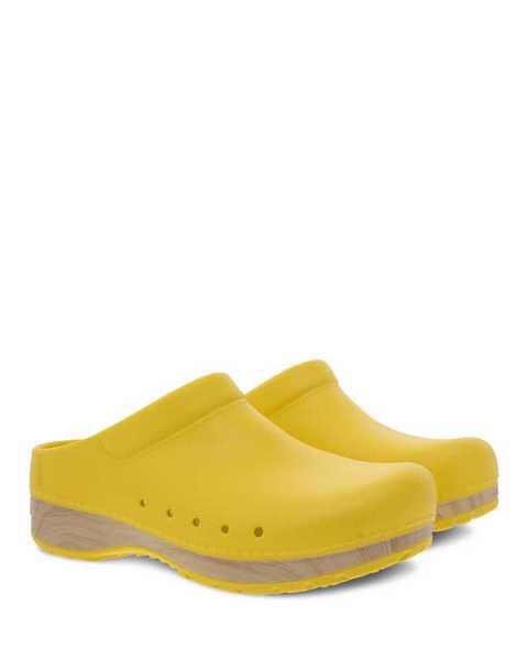 Dansko Kane yellow eva clog