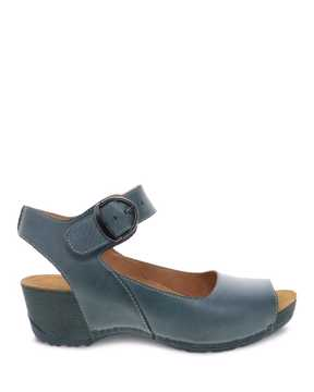 Picture of Tiana Teal Burnished Calf