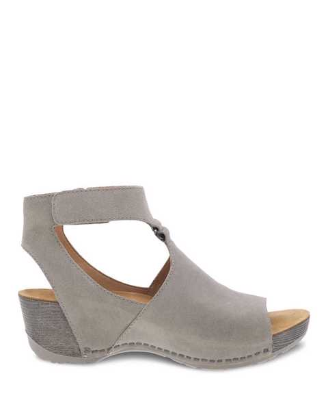 Picture of Taylin Taupe Burnished Suede