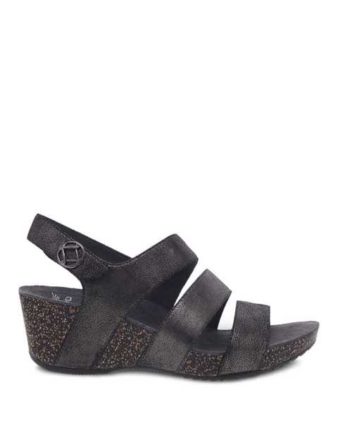 Picture of Stacey Graphite Metallic Suede