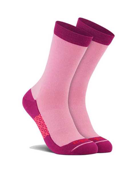 Picture of Two Tone Crew Pink Sock