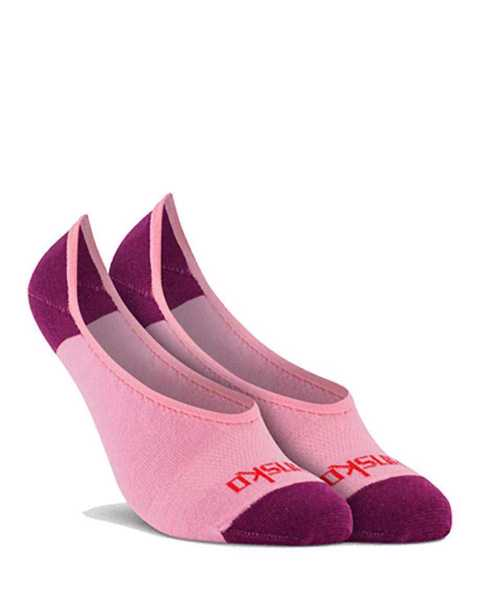 Picture of Two Tone No Show Pink Sock