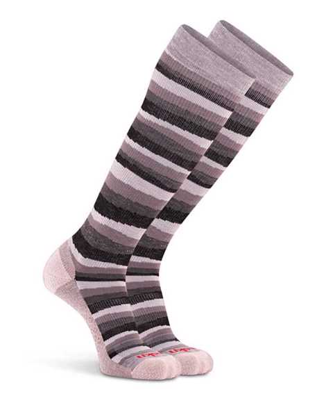 Picture of Fun Stripe Knee High Coal Compression Sock