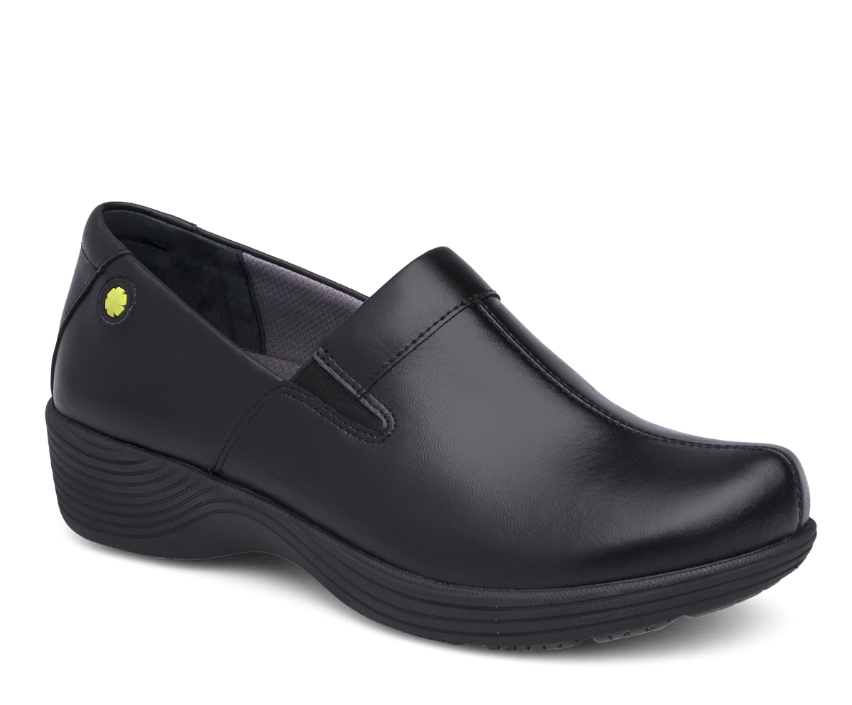 the dansko black leather from the coral collection